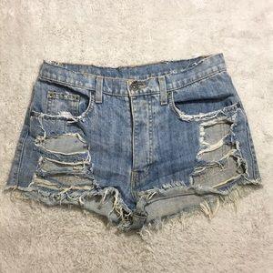 Carmar Distressed Shorts